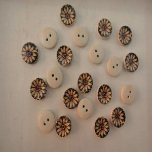 Round Shape Sunflower Button