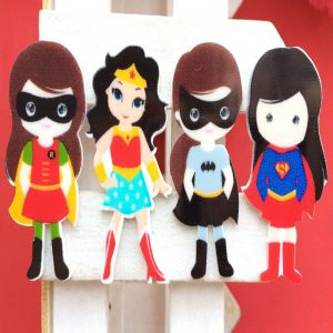 Girl Power - Wonder Woman, Bat Girl, Super Girl & Robin Resin Embellishment