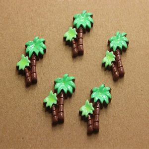 Coconut Tree Resin Embellishment
