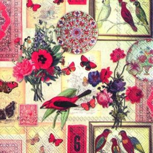 Exotic Collage Decoupage Napkin