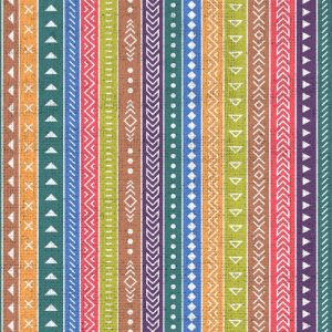 Mixed Colour Stripes Decoupage Napkin