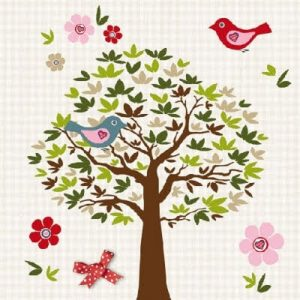 Birds Tree Decoupage Napkin