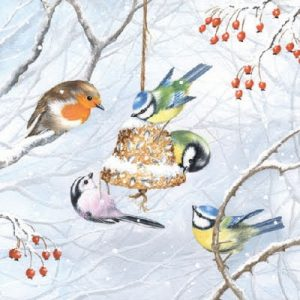 Winter Birds Decoupage Napkin