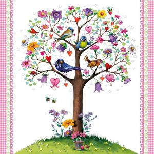 Love Tree White Decoupage Napkin