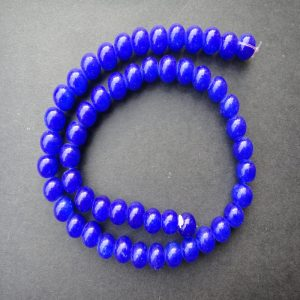 Round Royal Blue Glass Beads