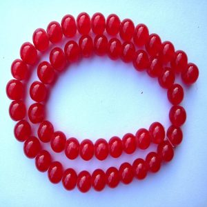 Round Red Glass Beads