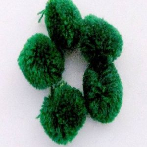 Dark Green Yarn Pom Pom