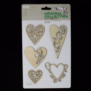 Original Collection Wooden Embellishments Pack - Hearts