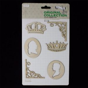 Original Collection Wooden Embellishments Pack - Royal Theme