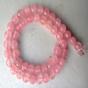Pastel Pink Agate Beads