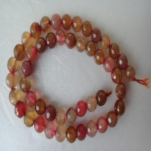 Mixed Shade Of Red Brown Agate Beads