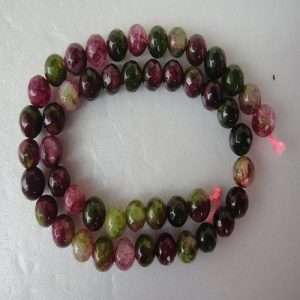 Mixed Colour Shades Of Green And Grape Agate Beads