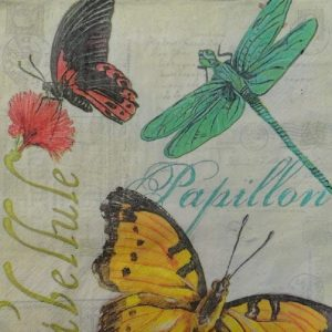 Butterfly and Dragonfly Decoupage Napkin