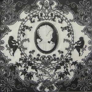 Black & White Royal Vintage Decoupage Napkin