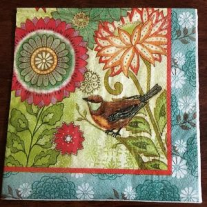 Robin In the Tree Decoupage Napkin