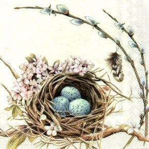 Bird's Nest Decoupage Napkin