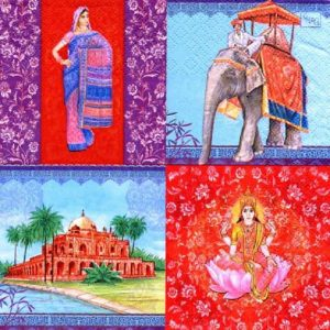 India Tour Decoupage Napkin