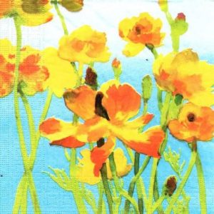 Yellow Buttercup Decoupage Napkin