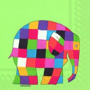 Elmer The Elephant Decoupage Napkin