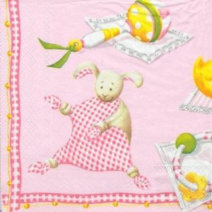 Baby Girl Theme Decoupage Napkin