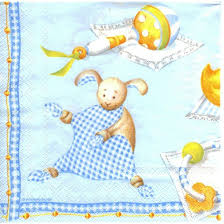 Baby Boy Theme Decoupage Napkin