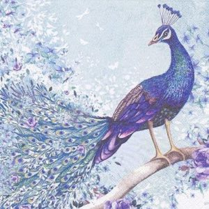 Peacock On A Tree Decoupage Napkin