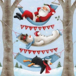 Relaxing Christmas Decoupage Napkin