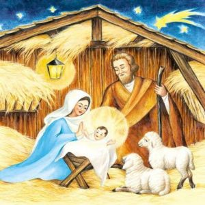 Nativity Scene Decoupage Napkin