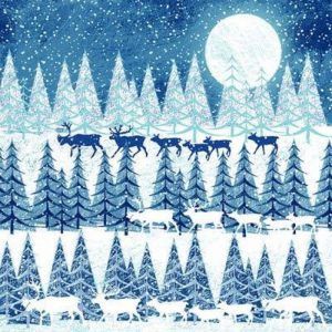 Winter Moon Decoupage Napkin