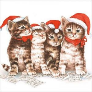 The Cats Family Decoupage Napkin