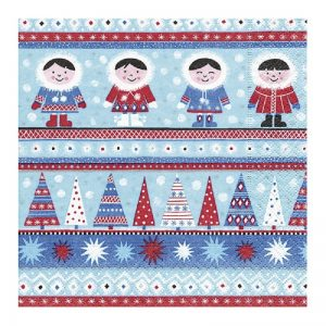 Christmas In The North Pole  Decoupage Napkin