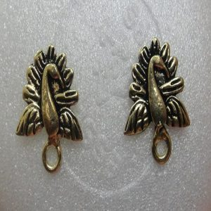 Antique Bronze Small Peacock Earrings