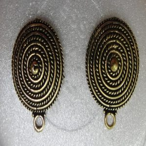 Antique Bronze Round Earrings