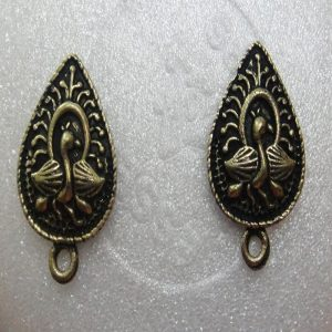 Antique Bronze Peacock Earrings