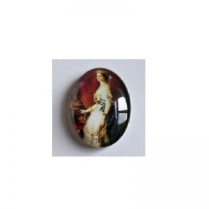 Oval Glass Cabochon Historical Woman