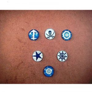 Nautical Theme Mixed Glass Cabochons