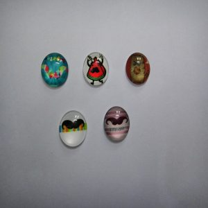 Glass Cabochons - Mustache