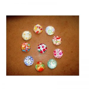 Glass Cabochons Flowers