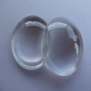 Round Transparent Flat Back Glass Cabochons 30 MM