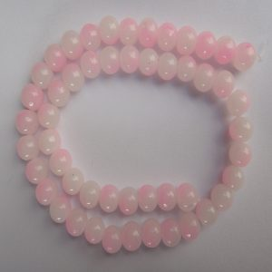 Baby Pink & White Double Shade Glass Beads