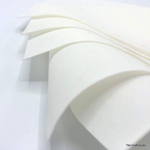 iCraft Flower Making Silk Foam Sheets - White