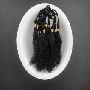 Black Silk Tassels