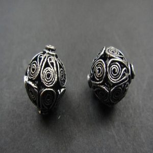 German Silver Bicone Shape Beads