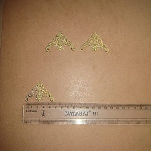 Gold Filigree Metal Corners 45 MM