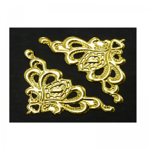 Gold Filigree Metal Corners 30 MM
