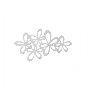 Silver Tone Hollow Flower Embellishments