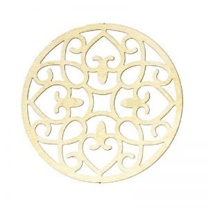 Round Brass Tone Moroccan Style Pattern Embellishments