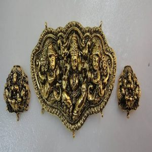 Goddess Antique Gold Temple Jewelry Pendant Sets