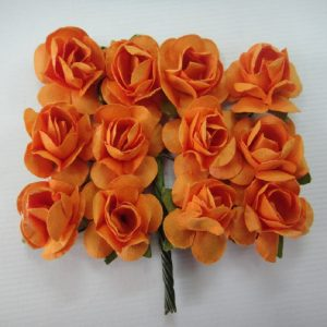 Small Plain Paper Flowers Orange