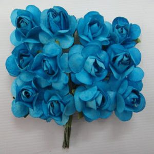 Small Plain Paper Flowers Baby Blue